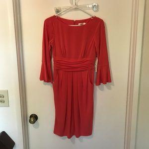 Eliza J Women's Sheath Dress with Flounce Sleeve 4